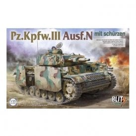 Takom 1:35 Panzer III Ausf. N - with side skirts Model Military Kit