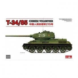 Rye Field Model 1:35 T-34/85 No.183 Factory Chinese Volunteer Military Model Kit