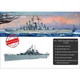Very Fire 1:700 USS Des Moines CA-134 US Navy Heavy Cruiser Model Ship Kit