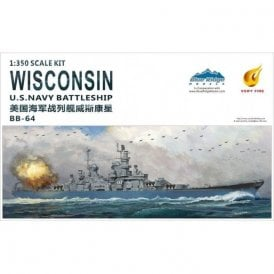 Very Fire 1:350 USS Wisconsin US Navy BB-67 Battleship Model Ship Kit