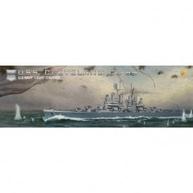 Very Fire 1:350 USS Cleveland CL-55 US Navy Light Cruiser Model Ship Kit