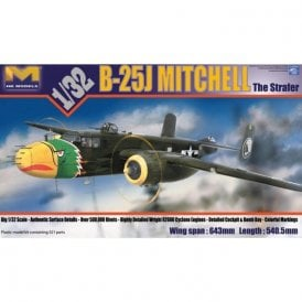 Hong Kong Models 1:32 B-25J Mitchell The Strafer Aircraft Model Kit