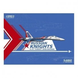 "Great Wall Hobby 1:48 Sukhoi Su-35S Flanker E ""Russian Knights"" with special Mask & Decal Aircraft Model Kit"