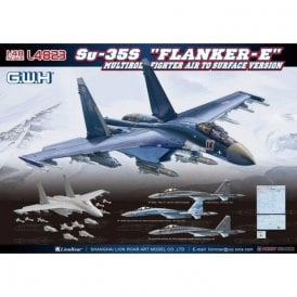 "Great Wall Hobby 1:48 Su-35S ""Flanker E"" Multirole Fighter Air to Surface Version Aircraft Model Kit"
