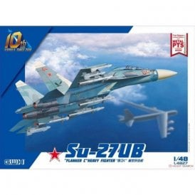 "Great Wall Hobby 1:48 Su-27UB ""Flanker C"" Heavy Fighter Aircraft Model Kit"