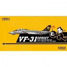 "Great Wall Hobby 1:72 F-14D Tomcat US Navy VF-31 ""Sunset"" /w special PE & Decals Aircraft Model Kit"