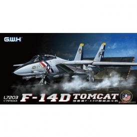 Great Wall Hobby 1:72 F-14D Tomcat US Navy VF-2 Bounty Hunters Aircraft Model Kit