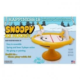 Atlantis Models Snoopy and Woodstock Ice Hockey Game Build and Play SNAP Kit Model Kit