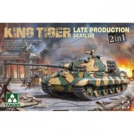 Takom 1:35 Sd.Kfz.182 King Tiger Late Production 2 in 1 Model Military Kit