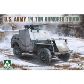 Takom 1:35 US Army 1/4 ton Armored Truck (Jeep) Model Military Kit