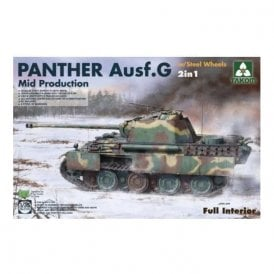 Takom 1:35 Panther G Mid Steelwheel 2in1 - full Interior Model Military Kit