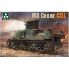 Takom 1:35 Medium British Tank M3 Grant CDL Model Military Kit