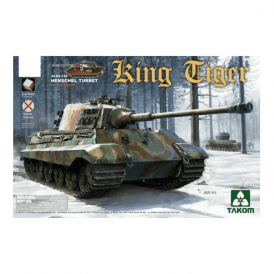 Takom 1:35 King Tiger Henschel with interior Model Military Kit