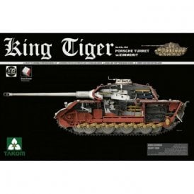 Takom 1:35 King Tiger Porsche Turret w / Zimmerit, Interior Model Military Kit