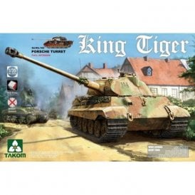 Takom 1:35 King Tiger Porsche with interior without Zimmerit Model Military Kit