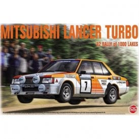 NUNU 1:24 Mitsubishi Lancer Turbo ' 82 RALLY OF 1000 LAKES ' Car Model Kit