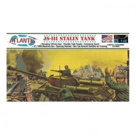 Atlantis Models 1:48 Russian Stalin Tank Military Model Kit