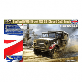 Gecko Models 1:35 Bedford MWD 15-cwt 4x2 GS (closed cab) Truck Military Model Kit