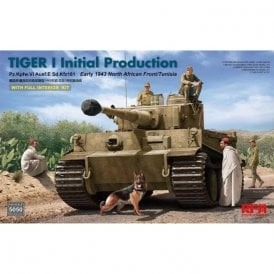 Rye Field Model 1:35 Tiger I Initial Production with Full Interior, Early 1943 North African Front/Tunisia Military Model Kit
