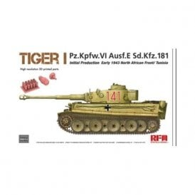 Rye Field Model 1:35 Tiger I initial production early 1943 Military Model Kit