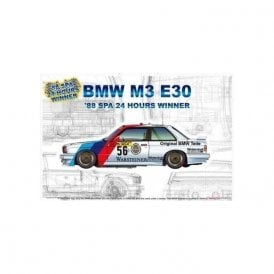 NUNU 1:24 BMW M3 E30 ' 88 SPA 24H Winner ' Car Model Kit