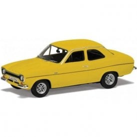 Corgi Vanguards 1:43 Ford Escort Mk1 RS2000 Daytona Yellow Thin Stripe Model Car