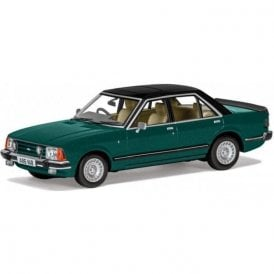 Corgi Vanguards 1:43 Ford Granada Mk2 2.8 i Ghia Apollo Green Model Car