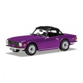 Corgi Vanguards 1:43 Triumph TR6 Magenta Model Car (New Tooling)