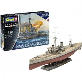 Revell Damaged box 1:350 HMS Dreadnought Model Ship Kit