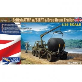 Gecko Models 1:35 British Army ATMP With SLLPT & Drop Drum Trailer Military Model Kit