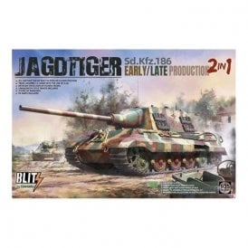Takom 1:35 Sd.Kfz.186 Jagdtiger Early/Late production 2 in 1 Model Military Kit