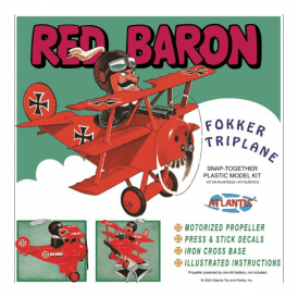 Atlantis Models Red Baron Fokker Triplane SNAP Kit Model Kit