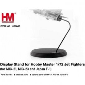 Hobby Master 1:72 Stand for Jet Fighters MIG-21,MIG-23 and Japan F-1